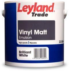 Leyland Trade Vinyl Matt 2.5L Brilliant White