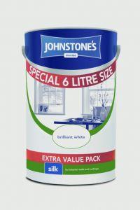 Johnstone's Wall & Ceiling Silk 6L Brilliant White