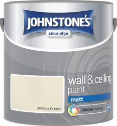 Johnstone's Wall & Ceiling Matt 2.5L Antique Cream