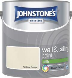 Johnstone's Wall & Ceiling Silk 2.5L Antique Cream
