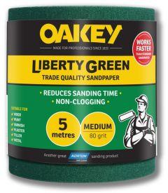 Oakey Liberty Green Sanding Roll 5m Medium 80g