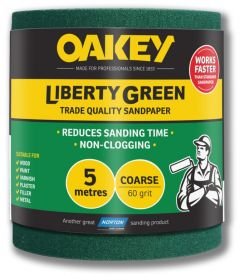 Oakey Liberty Green Sanding Roll 5m Coarse 60g