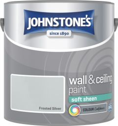 Johnstone's Wall & Ceiling Soft Sheen 2.5L Frosted Silver