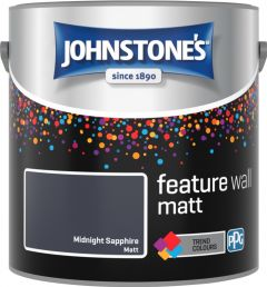 Johnstone's Feature Wall Matt 2.5L Midnight Sapphire