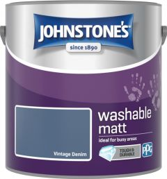 Johnstone's Washable Matt 2.5L Vintage Denim
