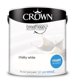 Crown Matt Emulsion 2.5L Chalky White