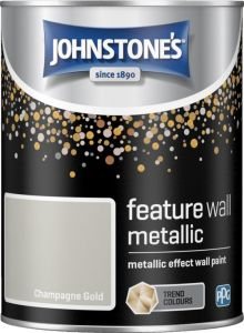 Johnstone's Feature Wall Metallic 1.25L Champagne Gold