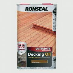 Ronseal Ultimate Decking Oil 5L Natural Oak