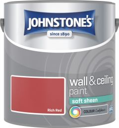 Johnstone's Wall & Ceiling Soft Sheen 2.5L Rich Red