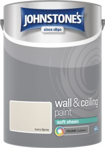 Johnstone's Wall & Ceiling Soft Sheen 5L Ivory Spray