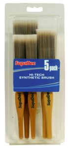 Supadec Synthetic Brush Set 2X1/25Mm 2X1.5/38Mm 2/50Mm 5 Piece