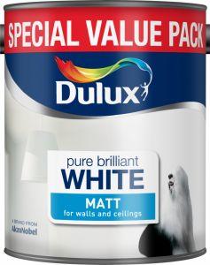 Dulux Matt 3L Pure Brilliant White