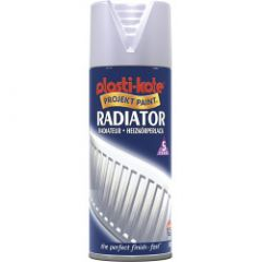 Plastikote Radiator Spray Paint 400Ml Satin Chrome