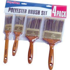 Supadec Polyester Brush Set 4 Piece