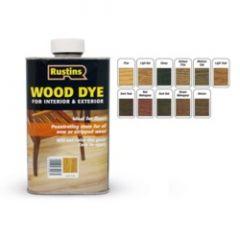Rustins Interior & Exterior Wood Dye 250Ml Dark Teak