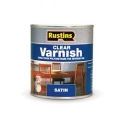 Rustins Polyurethane Satin Varnish 250Ml Clear