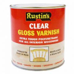 Rustins Polyurethane Gloss Varnish 1L Clear