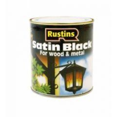 Rustins Quick Dry Satin Black 500Ml