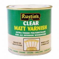Rustins Polyurethane Matt Varnish 250Ml