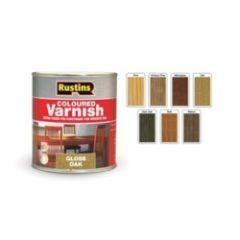 Rustins Polyurethane Gloss Varnish 250Ml Dark Oak