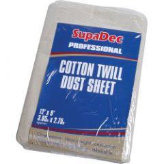 Supadec Cotton Twill Dust Sheet 12' X 9' (3.6M X 2.7M) Approx
