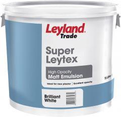 Leyland Trade Super Leytex Matt 15L Brilliant White