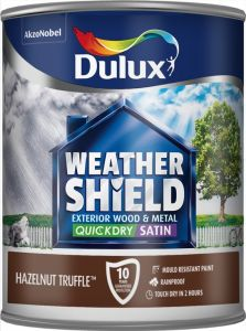 Dulux Weathershield Quick Dry Satin 750Ml Hazelnut Truffle