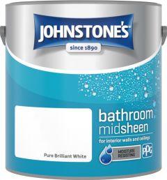 Johnstone's Bathroom Midsheen 2.5L Brilliant White
