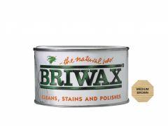 Briwax Natural Wax 400G Medium Brown