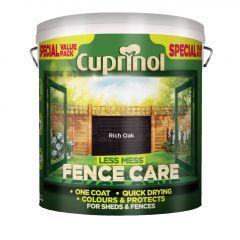 Cuprinol Less Mess Fence Care 6L Rich Oak