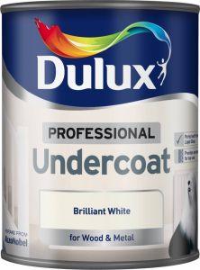 Dulux Professional Undercoat 750Ml Brilliant White