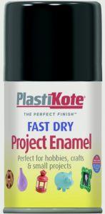 Plastikote Fast Dry Enamel Aerosol Paint Gloss Black - 100Ml