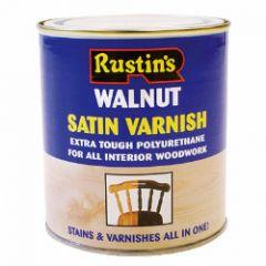Rustins Polyurethane Satin Varnish 500Ml Walnut