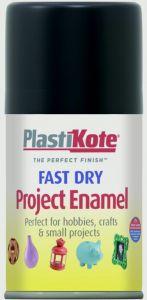 Plastikote Fast Dry Enamel Aerosol Paint Matt Black - 100Ml
