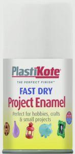 Plastikote Fast Dry Enamel Aerosol Paint Gloss White - 100Ml