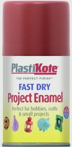 Plastikote Fast Dry Enamel Aerosol Paint Insignia Red - 100Ml