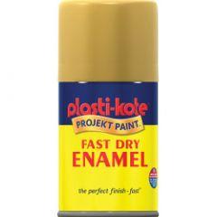 Plastikote Fast Dry Enamel Aerosol Paint Creme De La Creme - 100Ml