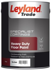 Leyland Trade Heavy Duty Floor Paint 5L Tile Red