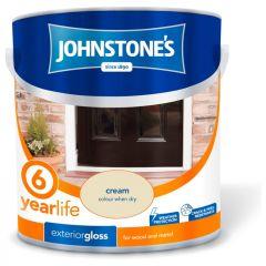 Johnstone's Exterior Hardwearing Gloss 2.5L Cream