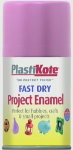 Plastikote Fast Dry Enamel Aerosol Paint Hot Pink - 100Ml