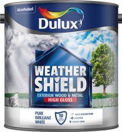Dulux Weathershield Exterior Gloss 2.5L Pure Brilliant White