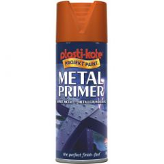 Plastikote Metal Primer 400Ml Aerosol Red Oxide