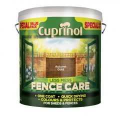Cuprinol Less Mess Fence Care 6L Autumn Gold