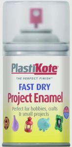 Plastikote Fast Dry Enamel Aerosol Paint Clear - 100Ml