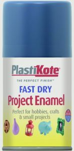 Plastikote Fast Dry Enamel Aerosol Paint Harbour Blue - 100Ml