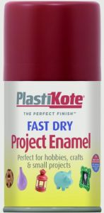 Plastikote Fast Dry Enamel Aerosol Paint Metallic Red - 100Ml