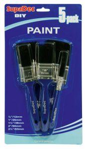 Supadec Paint Brush Set 12Mm 25Mm 38Mm 50Mm 63Mm