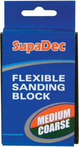 Supadec Flexible Sanding Block Medium/Coarse