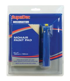 Supadec Decorator Mohair Paint Pad With Handle 6 X 4 /150Mm X 100Mm