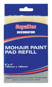Supadec Decorator Mohair Paint Pad Refill 6 X 4 /150Mm X 100Mm